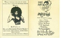 """RuPaul in """"Black Hookers from Mars"""" . She's Bad, She's Bold, Sometimes She's Bald! Now showing on the Floor at MARS Nightclub Larry Levan, Michael Alig, Leigh Bowery, Amanda Lepore, Paradise Garage, King Club, Disco Club, Lgbt History, It Goes Like This"""