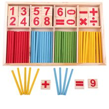 Baby Toys Wooden Blocks Montessori Educational Toys Mathematical Intelligence Stick Building Blocks Math Toy Gift(China (Mainland))