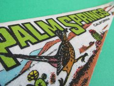 Vintage Souvenir Travel Pennant Palm Springs by euphoriaresale, $10.00