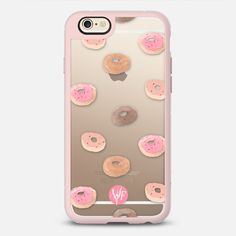 Delicious Donuts - New Standard iPhone 6/6S Case in Pink Gray and Clear by @wonderforest #phonecase   @casetify