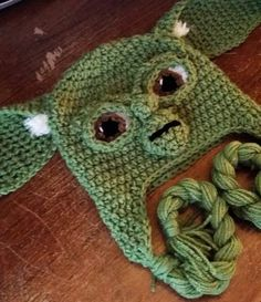 Star Wars Inspired YODA Hat Full Facial by MyLittleHeartStrings
