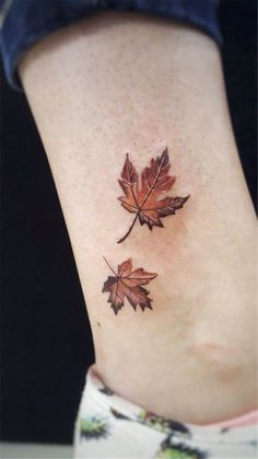 Maple Leaf Tattoos Express What Is Really In Your Heart Latest . - maple leaf tattoos express what is really in your heart Latest fashion trends for women sumcoco - Tattoo Femeninos, Tattoo Hals, Ankle Tattoo, Back Tattoo, Subtle Tattoos, Trendy Tattoos, Tattoos For Guys, Cool Tattoos, Beautiful Tattoos