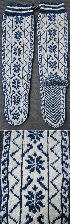 Traditional woollen stockings for women. From Çamlıhemşin (Rize province), late 20th century. Ethnic goup: Hemşinli. (Inv.nr. çor032- Kavak Costume Collection - Antwerpen/Belgium).