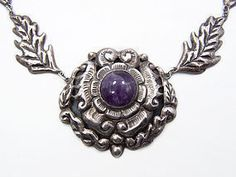 Early Mexico City Repousse Sterling Vintage Necklace  1350.00  TROCADERO  LOOK AT THAT NECKLACE!