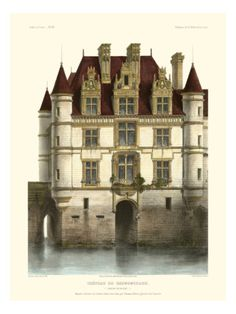 Petite French Chateaux IX Giclee Print by Victor Petit at Art.com