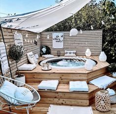 Backyard Patio Designs, Backyard Landscaping, Small Patio Design, Kleiner Pool Design, Backyard Makeover, Dream Home Design, Future House, Outdoor Decor, Black Accents