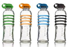 bottlesUp Recycled Glass Water Bottles - haven't tried these but they look really cool.  Capacity 22 oz.  Eventually, when my Life Factory glass bottle wears out or breaks I'll try this one.