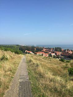 Uitzicht over #Vlieland dorp. Aankomst veerboot