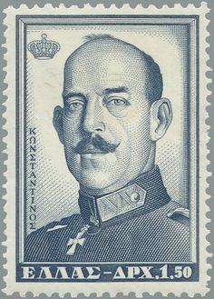 1956 Έκδοση Βασιλέων Α -  Κωνσταντίνος Α' Περίοδος εξουσίας 18 Μαρτίου 1913  έως 11 Ιουνίου 1917 Τεμάχια:4.000.000