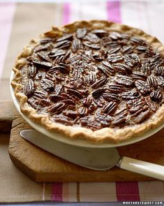 Pecan Pie | Martha Stewart Living - This classic Thanksgiving pie comes together very quickly, leaving you time to work on the rest of the meal.