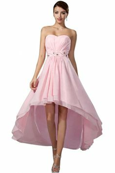 Emma Y Strapless Hi-lo Bridesmaid Dresses Prom Gown Bridesmaid Dresses, Prom Dresses, Dress Prom, Chiffon Shirt, Fall Wedding, Homecoming, Ball Gowns, Daughter, Fancy