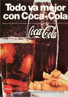 Página Publicidad Original *COCA-COLA* Patatas fritas - Año 1968