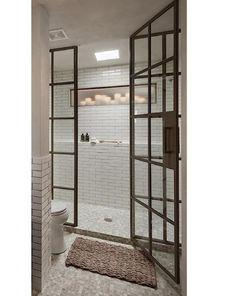 Steel Shower Enclosure by Janus Custom Steel, Remodelista