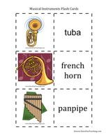 musical instruments flash cards Music Flash Cards