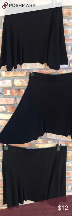 Black skater asymmetric skirt. Cute and sassy Super cute w boots. Has a sassy swing short in center and flowy and longer at the sides. Worn once maybe twice so looks great max studio speciality products Skirts Asymmetrical