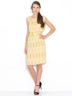 MAX & Co -. Geometric print sleeveless dress