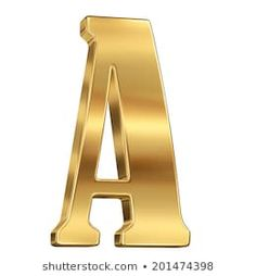 Letter A from gold solid alphabet. Dress Drawing, Symbols, Lettering, Drawings, Gold, Alphabet, Drawing Letters, Sketches, Drawing