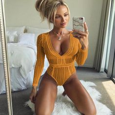 1ab890e325 2018 Spring Summer Solid Backless Sexy Bodysuit Women Jumpsuit thin romper  V-Neck Long Sleeve short femme fashion body feminino