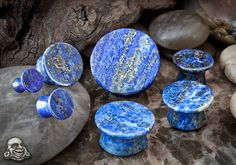 Mayan flare stone plugs (Lapis) - Comfy, and they make my stretches look huge :)