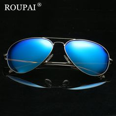 382dc3c4752 ROUPAI 2017 Fashion Metal Polarized Sunglasses Men Sun Glasses UV400 Driving  Eyewear oculos Shades Retro Aviator Male Sunglass-in Sunglasses from Men s  ...