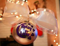 Hand painted Relay for Life ornament. Fundraising project