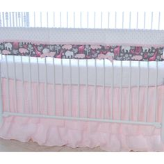 Pink Animal Cookies Rail Guard Cover by BlueBerrie Kids - 21ACP-RC