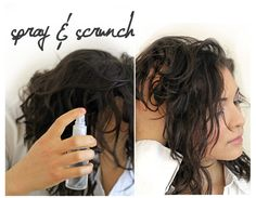 Beachy Gorgeous Hair with Zero Chemicals! DIY -1 cup hot (not boiling) water -2 tablespoons sea salt -1 tablespoon natural hair gel (I use Alba) -5 – 10 drops essential oil (my favorite combo is 4 drops of vanilla essential oil and 3 drops sandalwood essential oil) ~~Mix the hot water, sea salt, gel, and essential oils. Pour into your favorite spray bottle. Shake well before each use