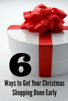 Do you feel overwhelmed when you have to shop for Christmas all at once? Shop early! Read 6 Ways to Get Your Christmas Shopping Done Early.