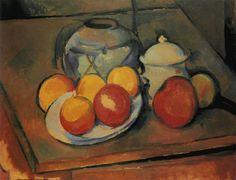 Pot de gingembre, sucrier et pommes, 1890-93, huile sur toile, 35 x 45 cm, Paris, Musée de l'Orangerie