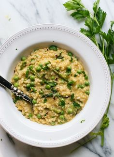 simple springtime risotto