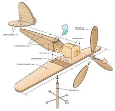 Diy Wooden Projects, Diy Craft Projects, Woodworking Toys, Woodworking Projects, Wooden Airplane, Making Wooden Toys, Wood Toys Plans, Kids Wood, Wooden Art