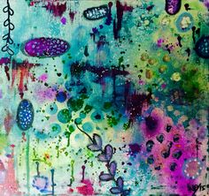 Mixed media painting by Jen Spates