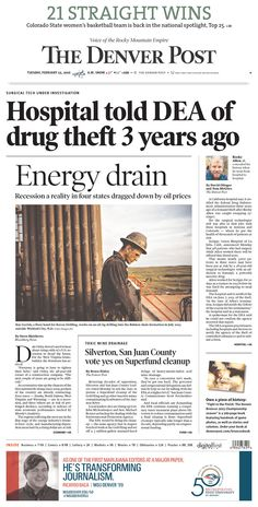 #20160223 #USA #Denver #COLORADO #TheDenverPost Tuesday FEB 23 2016 http://www.newseum.org/todaysfrontpages/?tfp_show=80&tfp_page=1&tfp_id=CO_DP