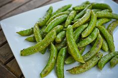Roasted Sugar Snap Peas or Asparagus (Vegan, Gluten Free, Soy Free, Low Fat, Refined Sugar Free)
