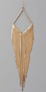 Big gold earrings.