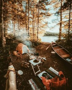 ♚ Bella Montreal ♚ Insta: bella.montreal || Pinterest & WeHeartIt: bella4549 || alone in the woods by the lake. Autumn camping trip