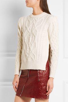 Ecru alpaca-blend Slips on 84% alpaca, 8% merino wool, 8% polyamide Dry clean Imported