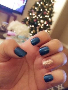 Navy Blue And Gold Nails Nails In 2019 Pinterest Nails Gold