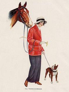 Boston Terrier Dog Print