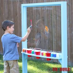 Ana White | Build a Outdoor Acrylic Easel | Free and Easy DIY Project and Furniture Plans