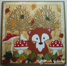 Handmade by Linda: Een vos in het bos.