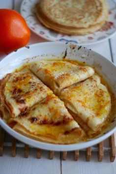 Pancakes with orange sauce according to the recipe from My Favorite Food, Favorite Recipes, Love Eat, Quick Snacks, Special Recipes, Appetizer Recipes, Food To Make, Breakfast Recipes, Good Food