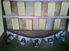 """Vintage suitcase table plan come card box for our """"vintage travel"""" themed wedding"""