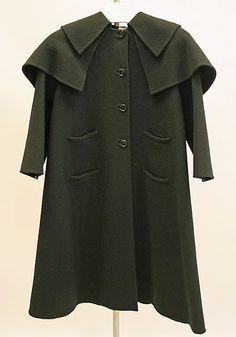 "Wool coat by Madame Grès (Alix Barton), French, ca. 1975. Label: ""Grès/Paris"""