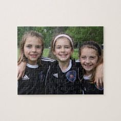 Custom Photo Jigsaw Puzzle | Zazzle.com Birthday Gift Photo, Birthday Gifts, Bff Birthday, Sewing Machine Quilting, Soccer Gifts, Team Gifts, Team Photos, Joy To The World, Holiday Photo Cards