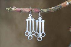 Gypsy Jewelery Bohemian Earrings Dangle Silver by ZeyCollection