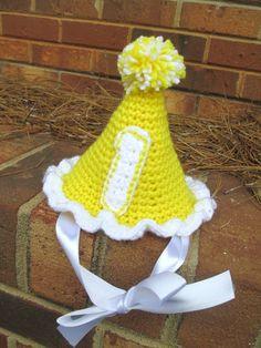 1st Birthday Crochet Party Hat