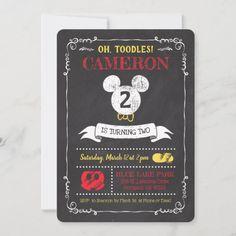 Mickey Mouse Icon Chalkboard Invitation Superman Happy Birthday, Mickey Mouse First Birthday, Minnie Mouse, 1st Birthday Gifts, 1st Birthday Invitations, 13th Birthday, Girl Birthday, Chalkboard Invitation, Birthday Chalkboard