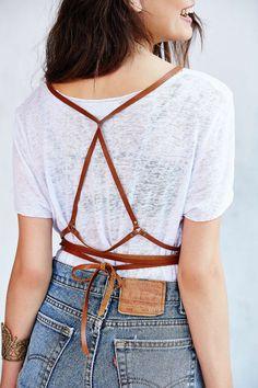 Leather Wrap Around Harness Belt Black or Brown от JAKIMACSHOP