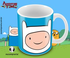 Caneca Finn - Adventure Time (Hora de Aventura) - pré venda